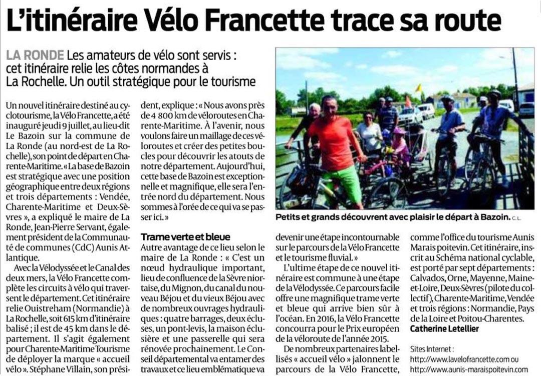 Ouest France_Vélofrancette_16 juillet 2015