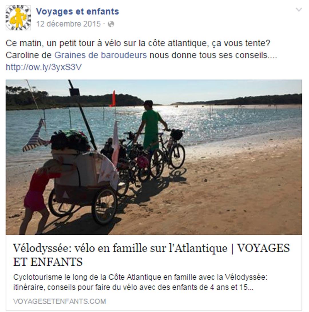 Voyages et enfants_vélodyssée