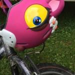 Casque vélo enfant Panthère rose