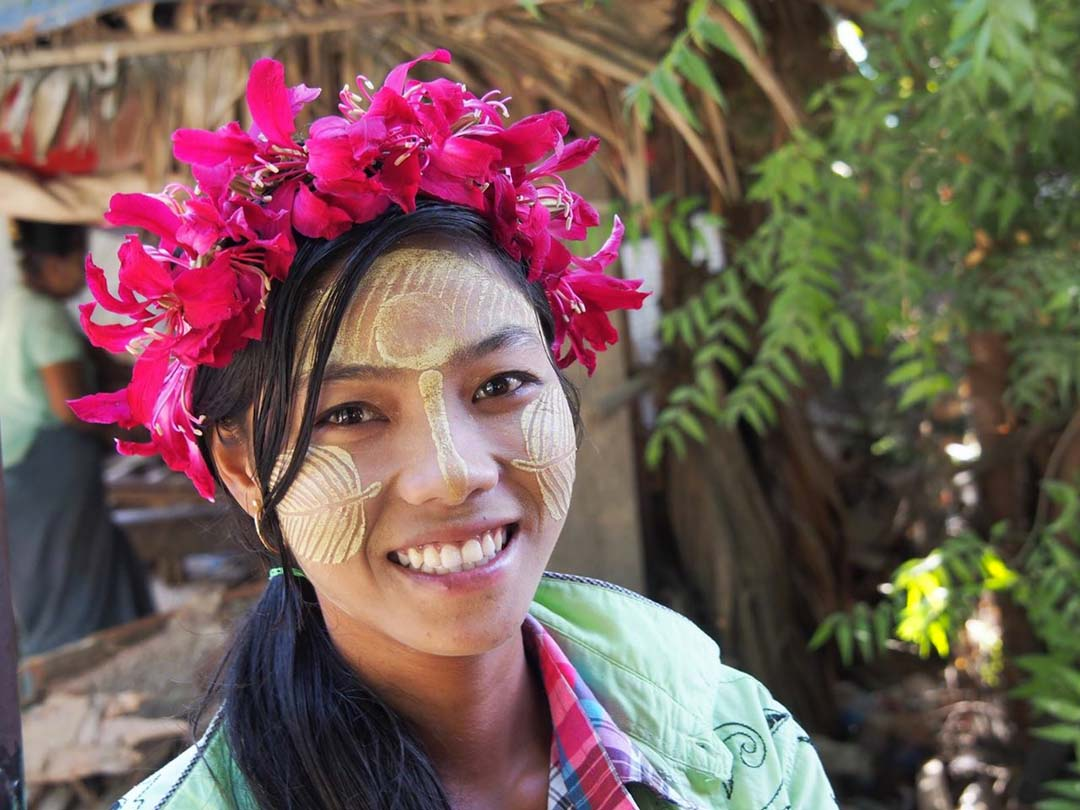Beauté au tanaka - Birmanie